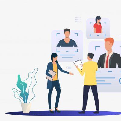 Employee management graphic