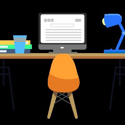 Desk graphic