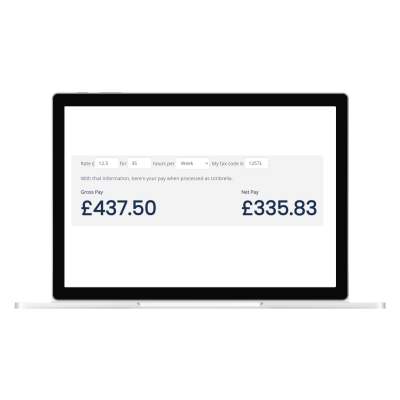 Pay calculator example